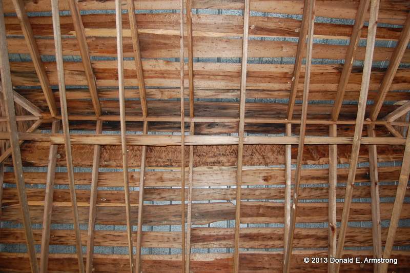 Little Texas Tabernacle: ceiling view (roof structure)