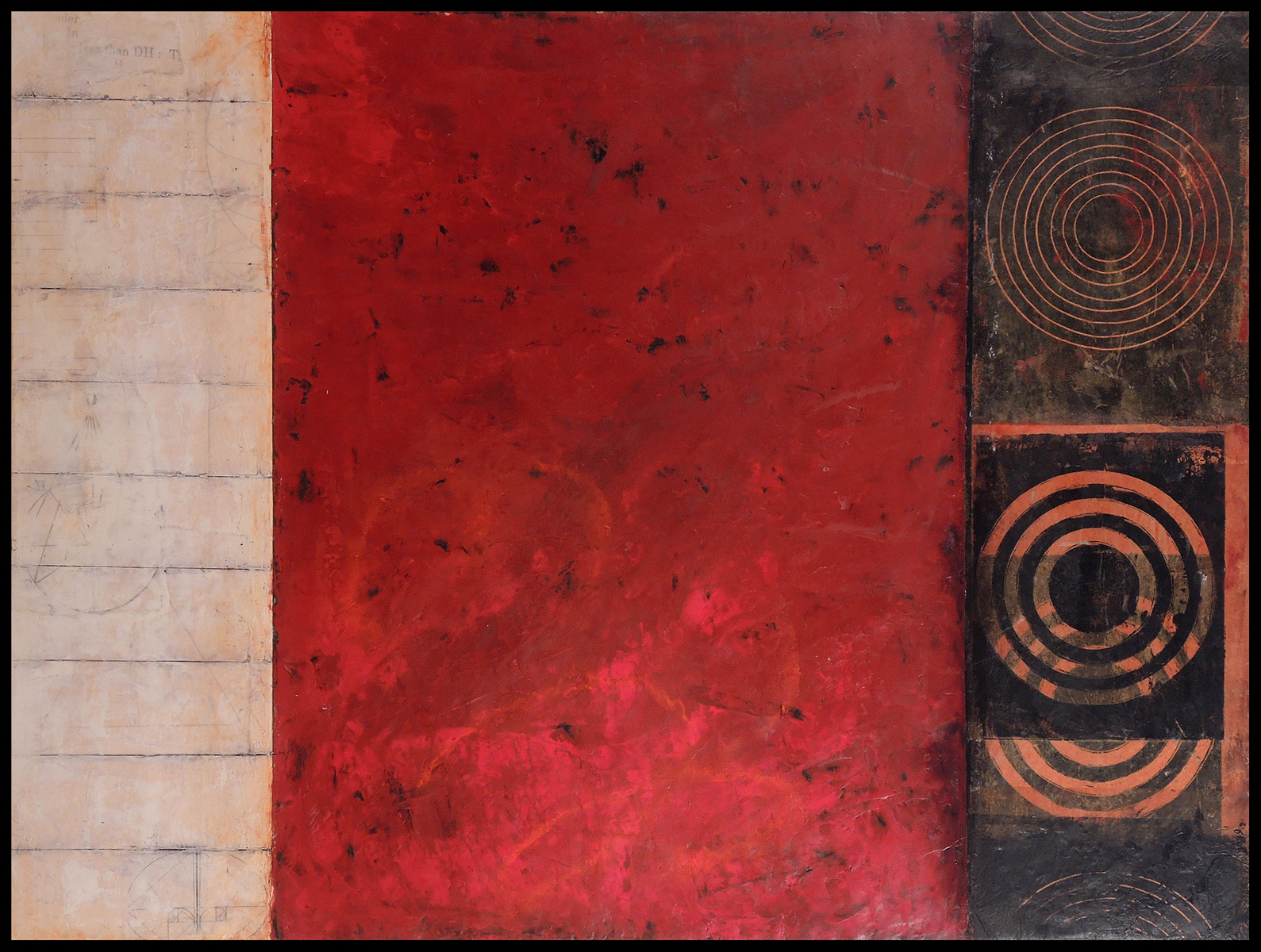 """Near, 31"""" x 41"""" x 1.5"""", encaustic and oil on wood panel, 2013"""