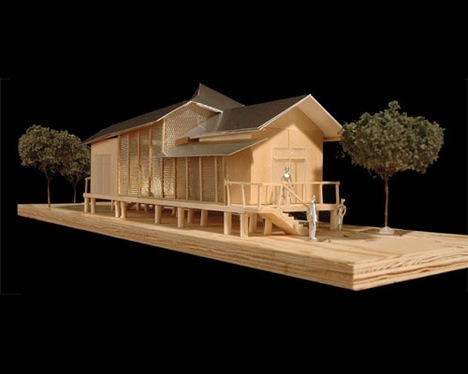 Design based on shotgun house type: New Orleans, Frank Gehry, Architect  (Source: http://www.treehugger.com/sustainable-product-design/gehry-designs-shotgun-house-for-new-orleans.html)