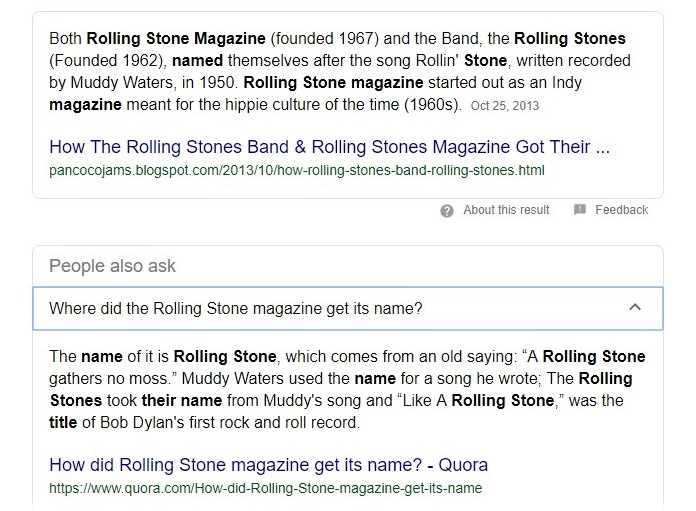 "From ""Rollin' Stone"" to Rolling Stone"