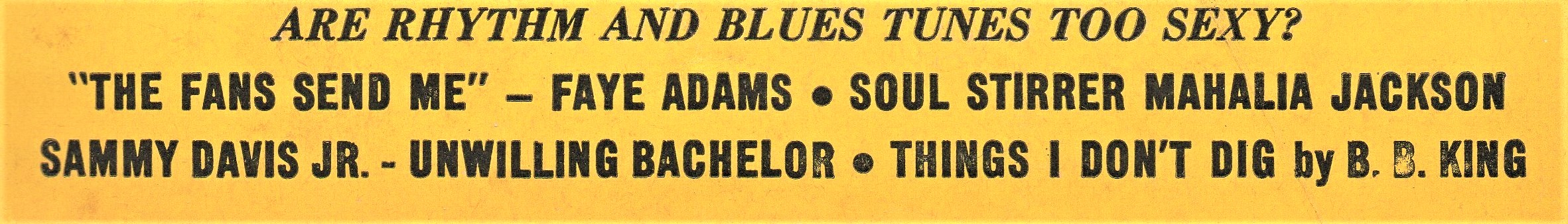 Kool Kapers and Real Scorchers: Rhythm and Blues #16